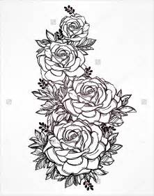 Rose Flower Outline Drawings