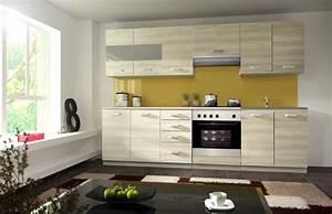 Küche 260 Cm : k che eko 260 cm k chenzeile k chenblock variabel stellbar in akazie holznachbildung kaufen ~ Orissabook.com Haus und Dekorationen