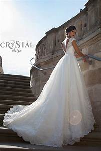 Exclusive wedding dresses by crystal design for 2015 for Crystal design wedding dresses