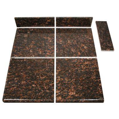 topstone brown modular kitchen tile end set home