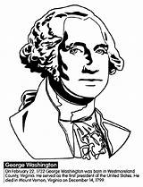 Coloring President Washington George Pages Crayola Presidents States United Printables American He sketch template