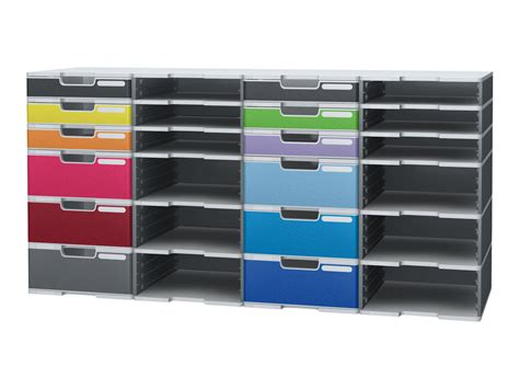 exacompta modulodoc classic 10 panneau avant d armoire 224 tiroir a4 couleurs assorties