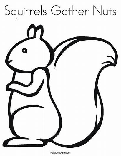 Coloring Nuts Nut Gather Squirrels Getcolorings Pages