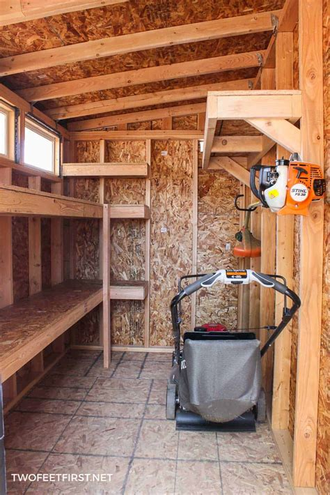 build outdoor shed how to build storage shelves in a shed or garage
