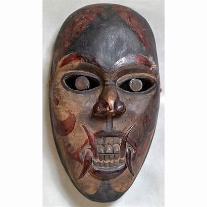 Dayak Mask Demon Face Borneo Indonesia Masks