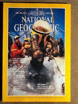 National Geographic magazine July 1983 Artic, Undersea ...