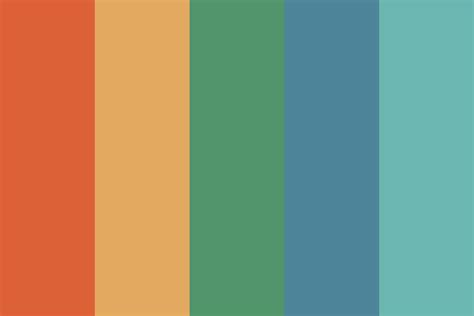 retro color palette rockin retro color palette