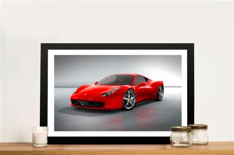 Ferrari 250 gto on the streets of monaco. Red Ferrari Canvas Art Print & Wall Art Sydney | Perth ...