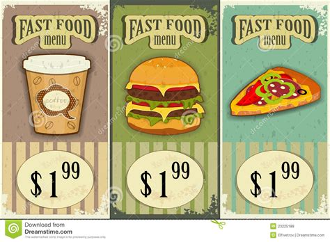vintage cuisine vintage fast food labels stock vector image of kitchen