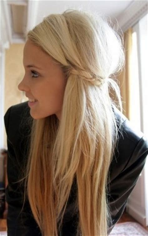 cute girls hairstyles bride with straight long hair