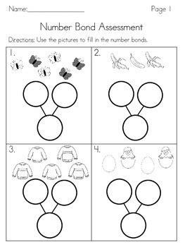 number bond assessment by kindergarten carnival tpt