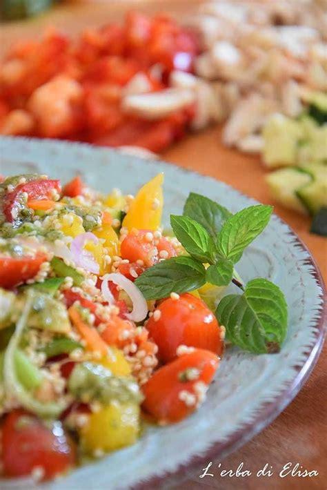 If you invite him to a picnic, barbecue, housewarming, or block party this time of. Tabulè di quinoa, verdure e pesto alla menta | Ricette, Ricette vegane, Idee alimentari sane