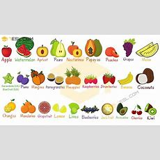 List Of Fruits Useful Fruit Names With Pictures  7 E S L
