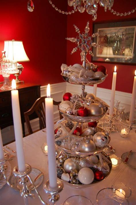 25 dining table centerpiece ideas 25 popular christmas table decorations on all