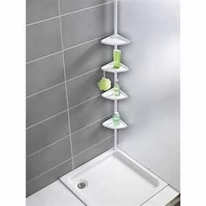 Etagere De Salle De Bain : etag re t lescopique d 39 angle de salle de bain blanc toilinux ~ Teatrodelosmanantiales.com Idées de Décoration