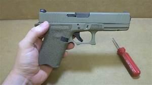 Glock 17 9mm with G-19 Grip Chop, Stippling, Slide Serr ...