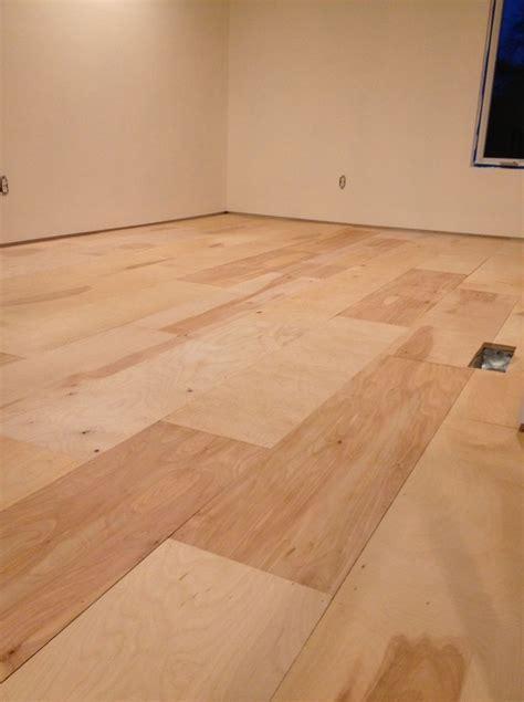 Plywood Flooring Installation   Salon Design Ideas