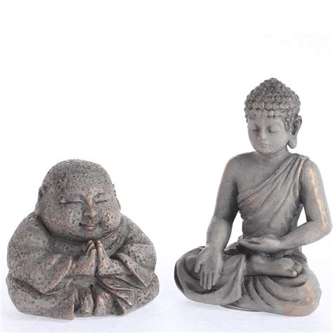 miniature resin buddha figurines table and shelf sitters