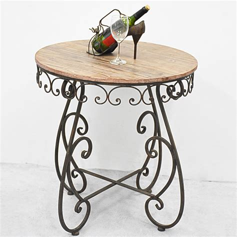 shabby chic rustic distressed wooden bistro table buy