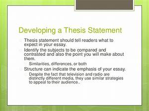 A Level English Essay Structure  Writing A High School Essay also Political Science Essay Comparison Thesis Statement   English Is My Second Language Essay