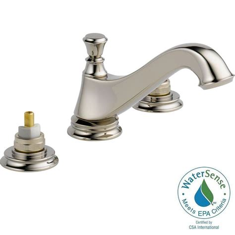 Delta Cassidy Bathroom Faucet Home Depot by Delta Cassidy 8 In Widespread 2 Handle Bathroom Faucet