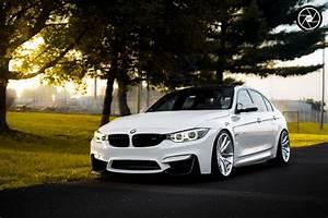 White BMW M3 Looks Elegant On Brushed Clear Custom Wheels
