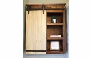 sliding barn door bathroom cabinet shanty 2 chic With barn door style medicine cabinet