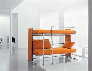 sofa that converts into a bunk bed in two seconds With sofa bunk bed transformer