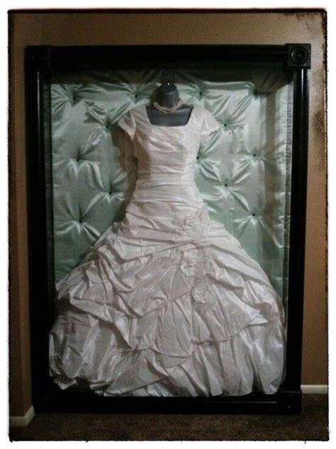shadow box display for wedding gown october wedding