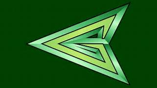Green Arrow Arrowhead Symbol WP by MorganRLewis on DeviantArt  Green Arrow Superhero Logo