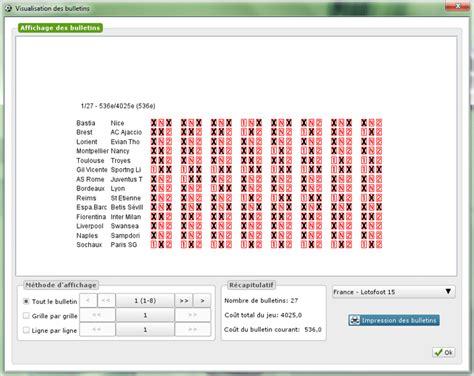 loto foot 7 et 15 prochaines grilles loto foot 7 pronostic expert