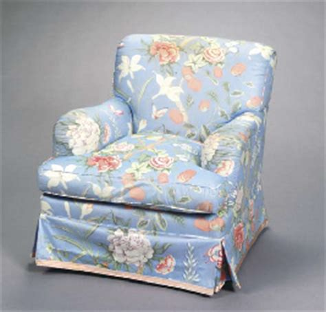 a pair of contemporary blue chintz upholstered club chairs
