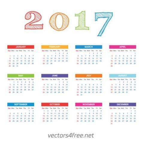 illustrator calendar template 2017 calendar template vector calendarios en espa 241 ol vector