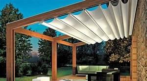 pergola markise zum sonnenschutz 23 beispiele garten With markise balkon mit tapete vögel blumen