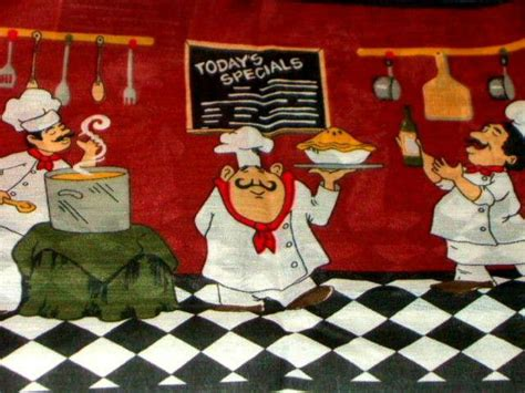 chef kitchen theme chefs kitchen curtains set