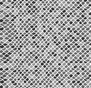 Scale seamless mosaic pattern in gray colors Royalty Free ...
