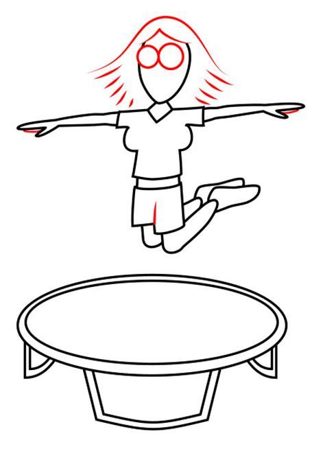 drawing  cartoon trampoline