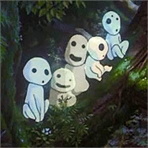 mine hayao miyazaki Princess Mononoke studio ghibli kodama ...