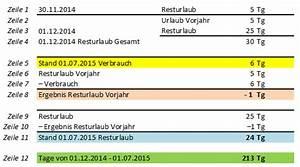 Resturlaub Berechnen Formel : berechnung aliquoter resturlaub ~ Themetempest.com Abrechnung