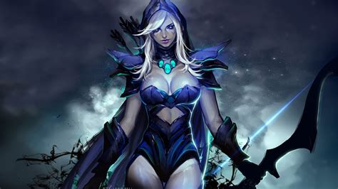 dota  heroes drow ranger roles carry disabler pusher abilities frost arrows gust precision aura