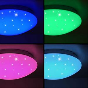 Led Panel Himmel : rgb led decken lampe cct fernbedienung sternen himmel nacht licht dimmer leuchte ebay ~ Orissabook.com Haus und Dekorationen