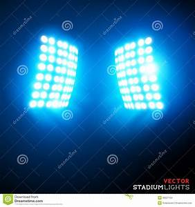 Vector stadium floodlights stock image of flash