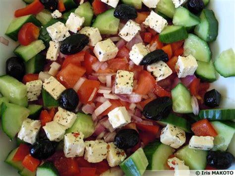 cuisine cretoise recettes salade crétoise à la féta recette de cuisine