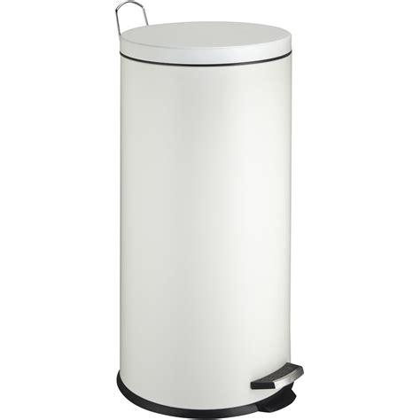 poubelle de cuisine à pédale poubelle de cuisine à pédale frandis métal blanc 30 l