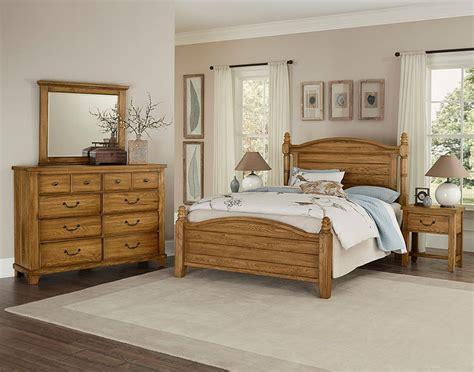 american oak poster bedroom set honey oak vaughan