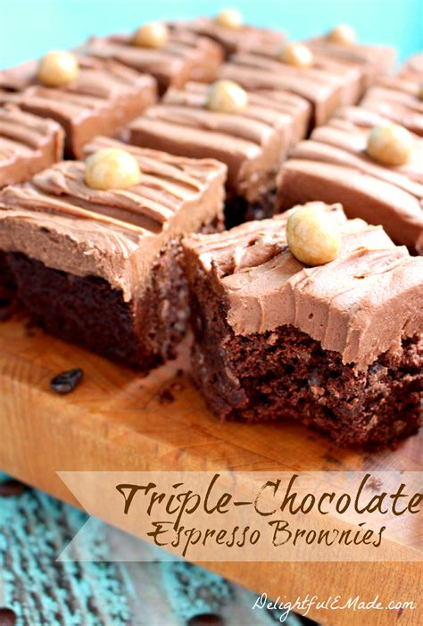 If you love the way chocolate and coffee work. Triple Chocolate Espresso Brownies - Delightful E Made