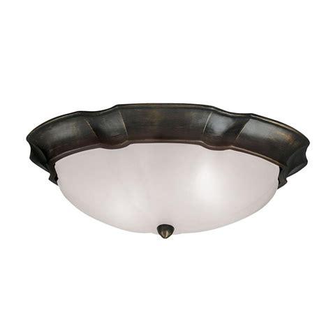 sedona bronze  light flush mount ceiling fixture