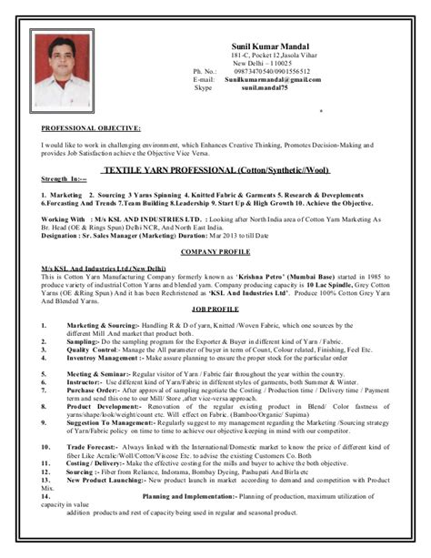 sample resume textile industry ghostwriternickelodeon