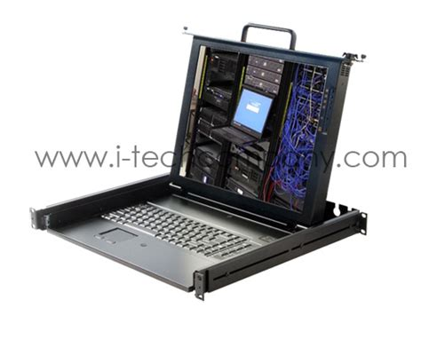 rack mount monitor eld 117e 1u rack mount tft 17 quot lcd monitor notebook