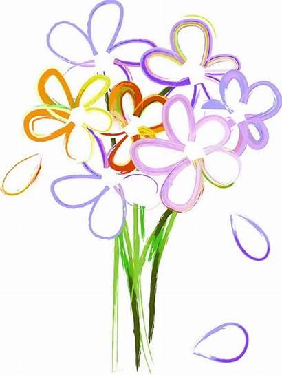 Flowers Bunch Clipart Bouquet Clip Flower Clipartmag